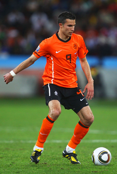 Robin Van Persie Robin Van Persie of the Netherlands in action during the 2010 FIFA World Cup South Africa Round of Sixteen match between Netherlands and Slovakia at Durban Stadium on June 28, 2010 in Durban, South Africa.