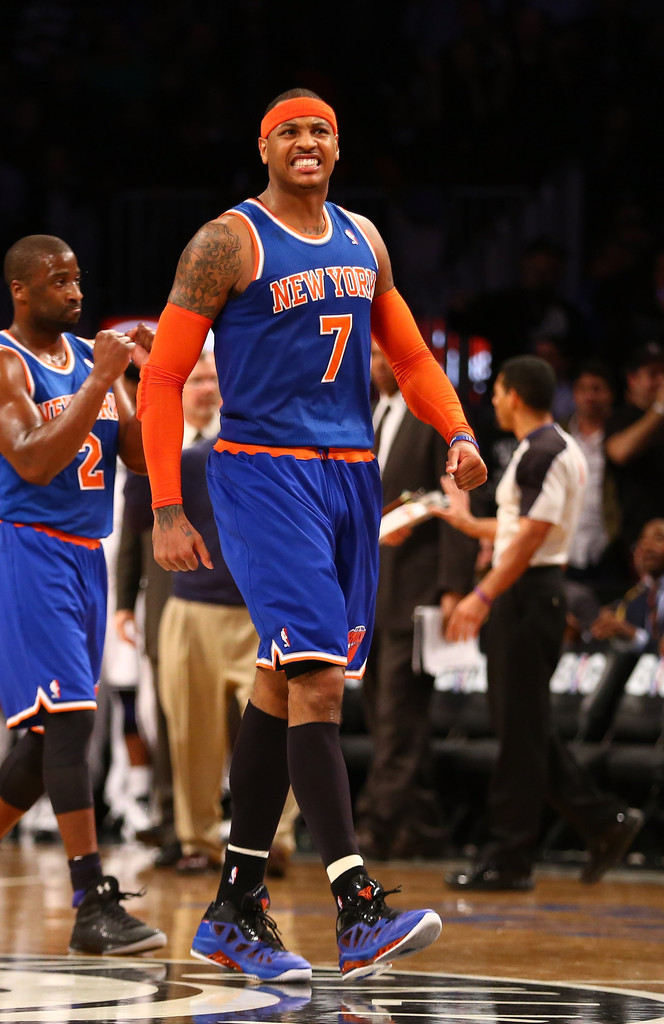 Carmelo anthony photos new york knicks brooklyn nets zimbio jpg 664x1024 New  york knicks jersey away 9c1fabfd3