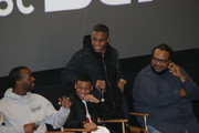 (L - R) Luke James, Dante Hoagland, keith Powers, and Chris Robinson attend the New Edition Story BET AMC Screenings Tour, New York on January 14, 2017 in New York City.