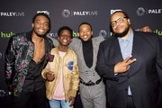 """(L-R) Woody McClain, Tyler Williams, Algee Smith and Chris Robinson attend """"The New Edition Story"""" at The Paley Center for Media on December 14, 2016 in Beverly Hills, California."""