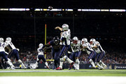 Tom Brady #12 of the New England Patriots throws a pass against the Houston Texans during the third quarter in the game at NRG Stadium on December 01, 2019 in Houston, Texas.