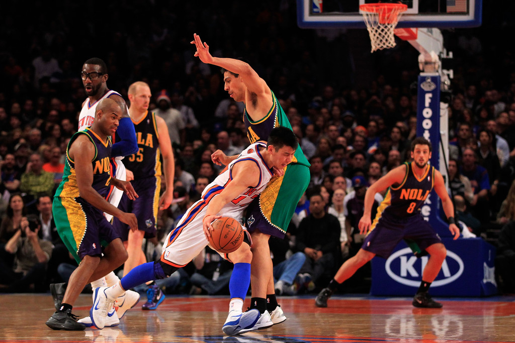 81a569a025c9 Jeremy Lin and Gustavo Ayon Photos»Photostream · Pictures · New Orleans  Hornets v New York Knicks
