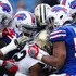 Preston Brown Jordan Poyer Photos - Mark Ingram #22 of the New Orleans Saints is tackled by the Buffalo Bills defense during the fourth quarter on November 12, 2017 at New Era Field in Orchard Park, New York. - New Orleans Saints v Buffalo Bills