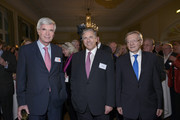 (L-R) Michael Otto, Josef Ackermann and Wolfgang Schuessel attend New Year Reception of publisher Klaus Schuemann at Hotel Louis C. Jacob on January 9, 2014 in Hamburg, Germany.