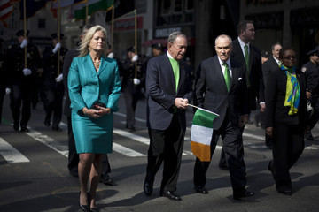 Michael Bloomberg Ray Kelly New York City Holds Annual St. Patrick's Day Parade