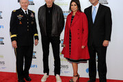 (L-R) Martin E. Dempsey, Roger Waters, Caroline Hirsch, and Bob Woodruff attend The New York Comedy Festival And The Bob Woodruff Foundation Present The 7th Annual Stand Up For Heroes Event at The Theater at Madison Square Garden on November 6, 2013 in New York City.