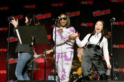 Deedee Magno, Estelle, and Michaela Dietz perform during the Steven Universe presentation at New York Comic Con 2019 - Day 2 at Jacobs Javits Center on October 04, 2019 in New York City.