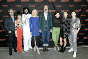 Graeme Manson, Sheila Vand, Daveed Diggs, Mickey Sumner, Steven Ogg, Alison Wright, Jennifer Connelly, and Lena Hall attends the Snowpiercer press line during New York Comic Con at Hammerstein Ballroom on October 05, 2019 in New York City.