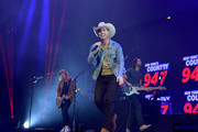 """Dustin Lynch performs on stage during """"Stars and Strings,"""" a RADIO.COM Event, at Barclays Center on December 04, 2019 in New York City."""