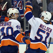 Frans Nielsen and Michael Grabner Photos