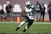 Chris Ivory #33 of the New York Jets rushes with the ball against the Oakland Raiders during their NFL game at O.co Coliseum on November 1, 2015 in Oakland, California.