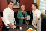 (L-R) Chef Todd English, New York magazine Culinary Editor Gillian Duffy and Chef Craig Hopson intereact during the New York Culinary Experience hosted by New York magazine and The French Culinary Institute at The French Culinary Institute on October 3, 2010 in New York City.