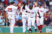 Steve Pearce Rafael Devers Photos Photo
