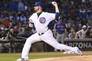 Jon Lester #34 of the Chicago Cubs pitches against the New York Mets during the first inning on September 13, 2017 at Wrigley Field  in Chicago, Illinois.