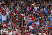 Fans hold up faces of Ryan Howard #6 of the Philadelphia Phillies as he steps to the plate for his first at bat during the second inning against the New York Mets during a game at Citizens Bank Park on October 2, 2016 in Philadelphia, Pennsylvania.