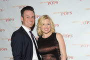 Brian Gallagher and Megan Hilty attend The New York Pops 31st Birthday Gala at the Mandarin Oriental Hotel on April 28, 2014 in New York City.