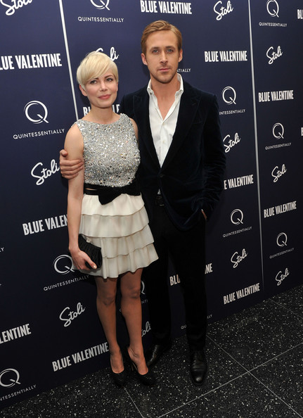 "Michelle Williams and Ryan Gosling attend the New York premiere of ""Blue Valentine"" hosted by Quintessentially at The Museum of Modern Art on December 7, 2010 in New York City."