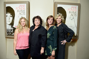 (L-R) Jessica Levin, Susan Lacy, Emma Pildes and Jane Fonda attend the New York premiere of the HBO documentary film 'Jane Fonda In Five Acts' at the HBO Theater on September 20, 2018 in New York City.