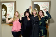 (L-R) Jessica Levin, Susan Lacy, Jane Fonda, and Emma Pildes attend the New York premiere of the HBO documentary film 'Jane Fonda In Five Acts' at the HBO Theater on September 20, 2018 in New York City.