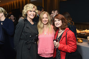 (L-R) Jane Fonda, Jessica Levin and Sherry Becker attend the New York premiere of the HBO documentary film 'Jane Fonda In Five Acts' at the HBO Theater on September 20, 2018 in New York City.