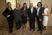 (L-R) Ricki Lander, Sheila Nevins, president of HBO Documentary Films, Nancy Abraham, svp of HBO Documentary Films, Robert Kraft, owner of New England Patriots, filmmaker Sean Fine, and filmmaker Andrea Nix Fine attend The New York Premiere Of HBO's 'Life According to Sam' at HBO Theater on October 8, 2013 in New York City.