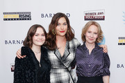 """(L-R) Oona Laurence, Lola Kirke and Amy Ryan attend the """"Lost Girls"""" New York premiere during The Athena Film Festival at The Diana Center at Barnard College on February 29, 2020 in New York City."""