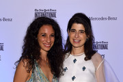 Nadine Isabelle Baier (L) and Dorothee Schumacher attend the Speaker Dinner presented by Mercedes-Benz during The New York Times International Luxury Conference at the Moore Building on December 1, 2014 in Miami, Florida.