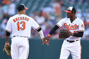 Adam Jones and Manny Machado Photos Photo