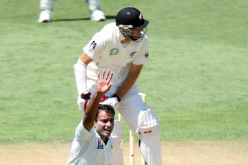 Tanvir Ahmed New Zealand v Pakistan - Second Test: Day 2