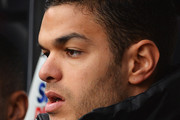 Hatem Ben Arfa of Newcastle United looks on from the bench during the Barclays Premier League match between Newcastle United and Crystal Palace at St James' Park on March 22, 2014 in Newcastle upon Tyne, England.