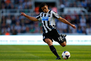 Hatem Ben Arfa of Newcastle in action during the Premier League match between Newcastle United and Fulham at the St James Park on August 31, 2013 in Newcastle-Upon-Tyne, England.