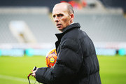 Referee Mike Dean looks on prior to the Barclays Premier League match between Newcastle United and Manchester United at St James' Park on January 12, 2016 at Newcastle upon Tyne, England.
