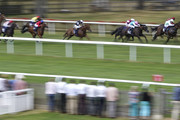 Ryan Moore riding Prevent (4R, pink cap) win The Enhanced World Cup Prices At 188Bet Handicap Stakes at Newmarket Racecourse on June 28, 2018 in Newmarket, United Kingdom.