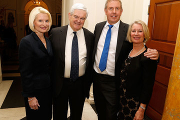 Newt Gingrich British Embassy Holds Afternoon Tea to Mark Presidential Inauguration in DC