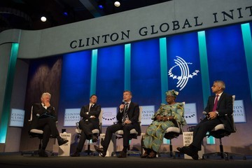 Ngozi Okonjo-Iweala Business And Political Leaders Attend Clinton Global Initiative Annual Meeting