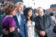 The prime minister of Rhineland-Palatinate Malu Dreyer;  Klaus Wowereit, Dunja Rajter and Joern Kubicki (L-R) attend the opening night of the Nibelungen festival on July 31, 2015 in Worms, Germany.