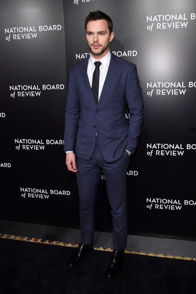 Celebs Attend the 2015 National Board of Review Gala [suit,clothing,formal wear,tuxedo,pantsuit,fashion,white-collar worker,footwear,premiere,outerwear,new york city,cipriani 42nd street,national board of review gala,celebs,nicholas hoult]