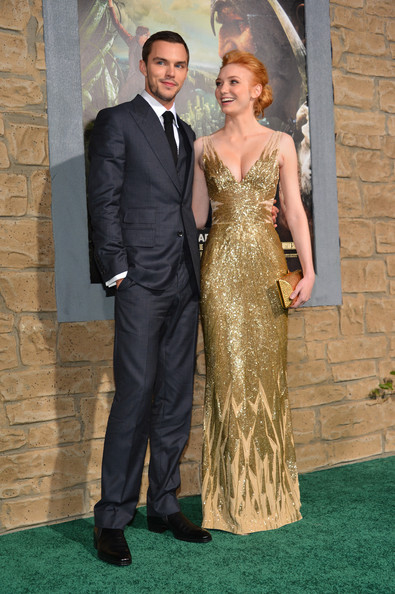 """Premiere Of New Line Cinema's """"Jack The Giant Slayer"""" - Red Carpet [jack the giant slayer,dress,clothing,gown,formal wear,carpet,fashion,suit,haute couture,event,flooring,red carpet,nicholas hoult,eleanor tomlinson,tcl chinese theatre,california,new line cinema,l,premiere,premiere]"""