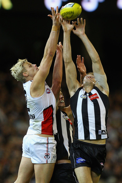 nick riewoldt mark. Ben Reid and Nick Riewoldt