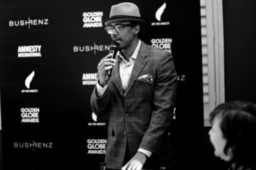 Nick Cannon Art for Amnesty Pre-Golden Globes Recognition Brunch