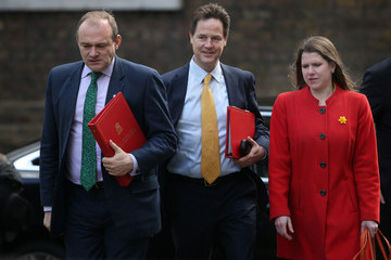 Nick Clegg Danny Alexander Final Meeting Of The UK Government Cabinet Before The General Election