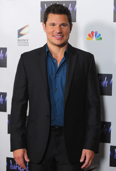 "Nick Lachey Singer/TV host Nick Lachey arrives to NBC's ""The Sing Off"" Live Finale at Sony Pictures Studios on November 28, 2011 in Culver City, California."