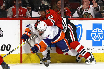 Nick Leddy New York Islanders v Chicago Blackhawks