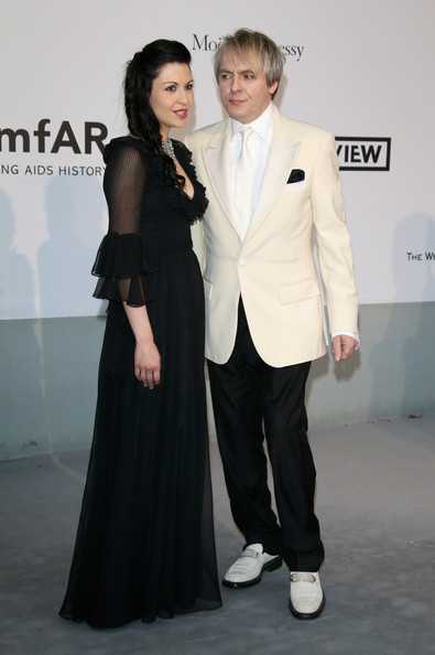 Arrivals at the Cinema Against AIDS Gala [bold films,suit,clothing,formal wear,fashion,tuxedo,event,carpet,dress,flooring,premiere,arrivals,nick rhodes,nefer suvio,worldview,cap dantibes,france,amfar,bvlgari,cinema against aids gala]