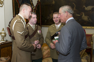 Nick Webb Prince Charles Meets Members Of The 'In The Footsteps of Legends' South Pole Expedition At Clarence House