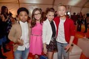 (L-R) TV Personalities Benjamin Flores Jr., Madisyn Shipman, Cree Cicchino, and Thomas Kuc attend Nickelodeon's 2016 Kids' Choice Awards at The Forum on March 12, 2016 in Inglewood, California.