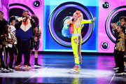DJ Khaled and JoJo Siwa perform onstage at Nickelodeon's 2019 Kids' Choice Awards at Galen Center on March 23, 2019 in Los Angeles, California.