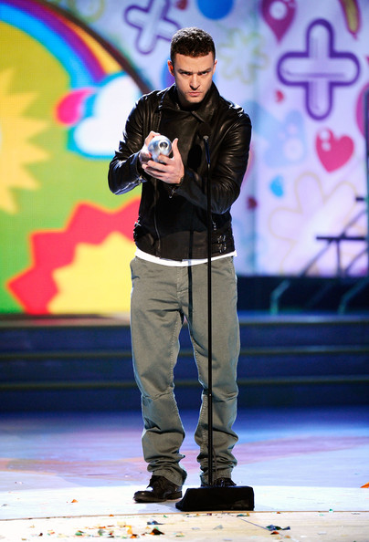 Actor/singer Justin Timberlake speaks onstage during Nickelodeon's 24th Annual Kids' Choice Awards at Galen Center on April 2, 2011 in Los Angeles, California.