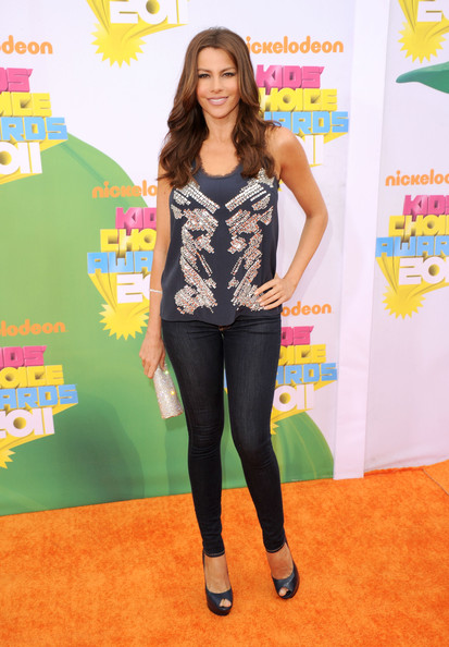 Actress Sofia Vergara arrives at Nickelodeon's 24th Annual Kids' Choice Awards at Galen Center on April 2, 2011 in Los Angeles, California.