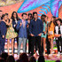 Victoria Justice Ariana Grande Photos - Actors Nathan Kress, Noah Munck, Victoria Justice, Drake Bell, Avan Jogia, Matt Bennett, Josh Peck, Leon Thomas III, Daniella Monet, Maree Cheatham, Ariana Grande and Cameron Ocasio speak onstage during Nickelodeon's 27th Annual Kids' Choice Awards held at USC Galen Center on March 29, 2014 in Los Angeles, California. - Nickelodeon's 27th Annual Kids' Choice Awards - Show